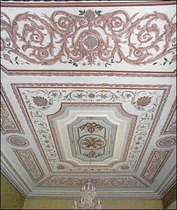 Ballroom ceiling, Government House